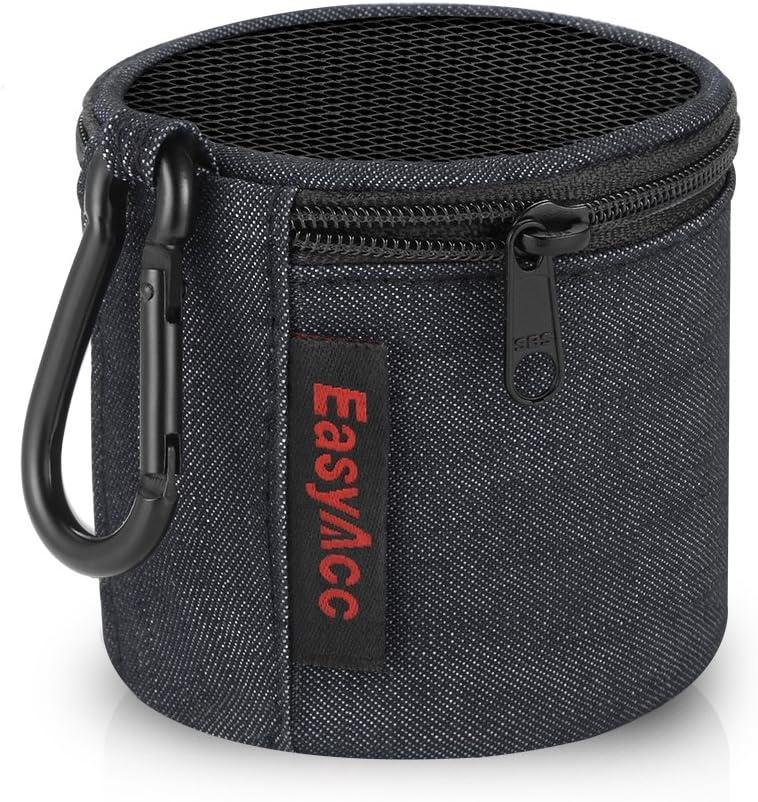 EasyAcc Bolsa Estuche per Anker Soundcore Mini/August MS425/ EasyAcc Altavoz Bluetooth Portátiles, Bolso de Viaje Premium, Funda Protectora con Mosquetón y Cremallera