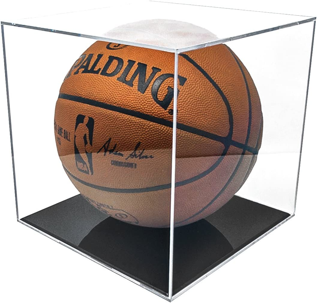 BallQube Grandstand Basketball Display with 98% UV Coating : Sports Related Display Cases : Sports & Outdoors