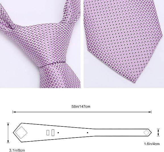 Zicac Corbata Elegante de Hombre para Banquete y Boda Formal (rosa ...