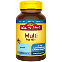 Nature Made Men's Multivitamin Softgels with 21 Key Nutrients, 60 Count