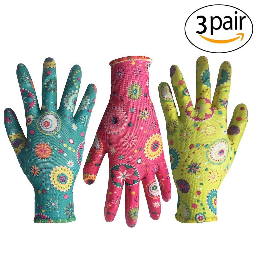 designer gardening gloves. Clear Nitrile Garden Working Gloves  PROMEDIX Comfort Flex Coated Work Super Light Amazon Best Sellers Gardening