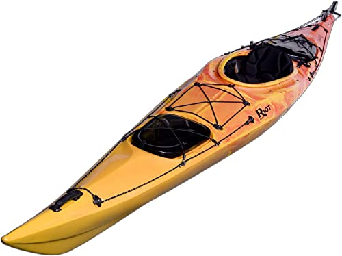 Riot Kayaks EvasiOn 15.5 Flatwater Touring Kayak Yellow Red, 15-Feet x 6-Inch