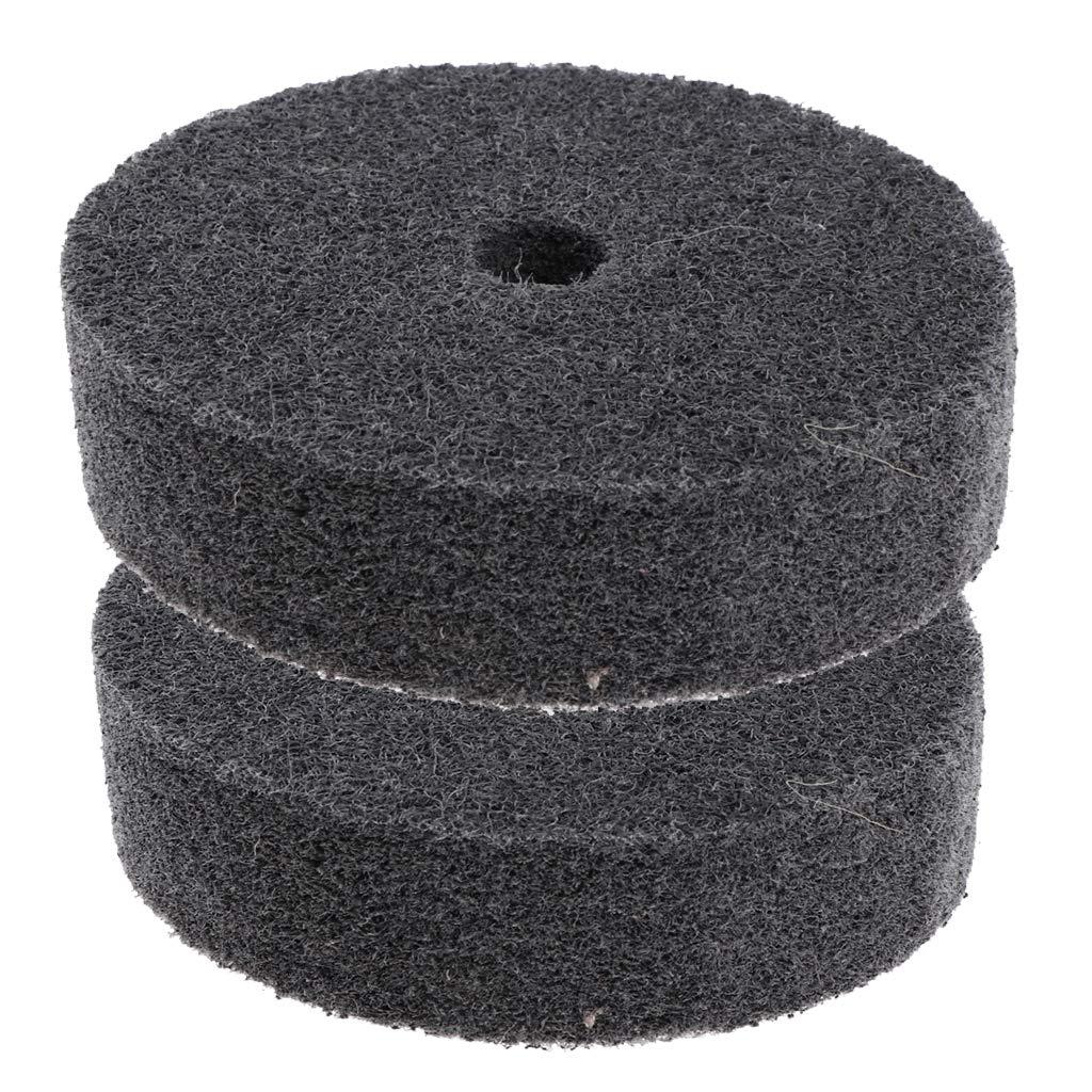 Wood Plastic DYNWAVE 2Pcs Gray Nylon Fiber Abrasive Polishing Wheel Fits for Metal
