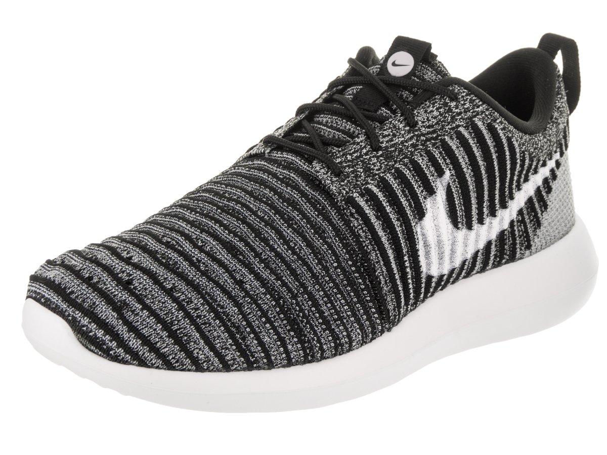 NIKE Men's Roshe Two Flyknit Black/White/Wolf Grey Running Shoe 10 Men US