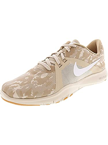6b662390a3c Nike Women s Flex Trainer 8 Print Desert Sand White Ankle-High Training  Shoes -