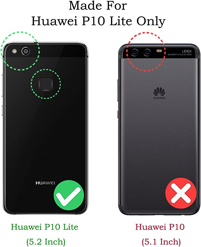 kazineer Funda Huawei P10 Lite, P10 Lite Funda de Cuero Cartera Carcasa para Huawei P10 Lite Case - Azul Turquesa: Amazon.es: Jardín