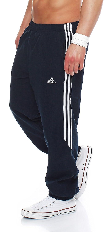 4ac2b7129ac6 Adidas Mens 3S Samson Woven Tracksuit Bottoms 3 Stripe Joggers Performance  Jog Pant Black White Navy White Sizes S M L XL 699817 912389 New (Medium  32