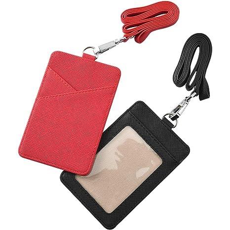 Mitarbeiter Id Schlüsselhalsband Gurt Clip und Doppel Seiten Karte Ausweis Etui