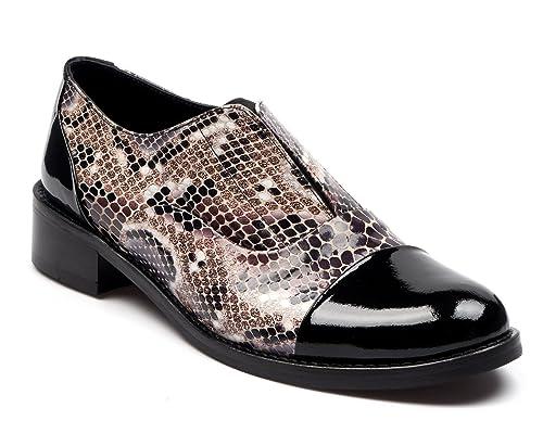 c4833e49c3 BOBERCK Colección Miranda Zapato de Cuero Estilo Oxford para Mujer   Amazon.es  Zapatos y complementos