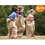 "ToysOpoly Premium Burlap Potato Sack Race Bags 24"" x 40"" (Pack of 6) - of Sturdy Rugged, 100% Natural Eco-Friendly Jute 