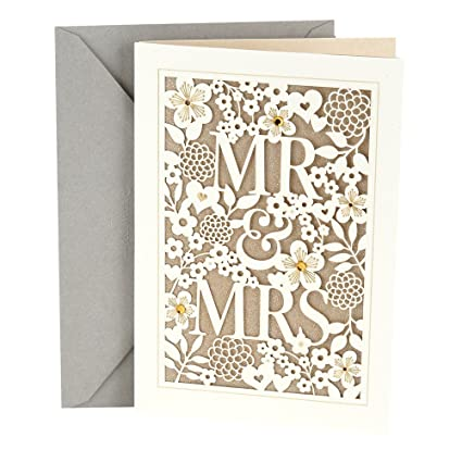 c5dc47e35e28 Amazon.com   Hallmark Wedding Card (Mr.   Mrs.)   Office Products