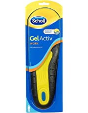 Scholl Men's Gel Active Work Gel Insoles, UK 7-12
