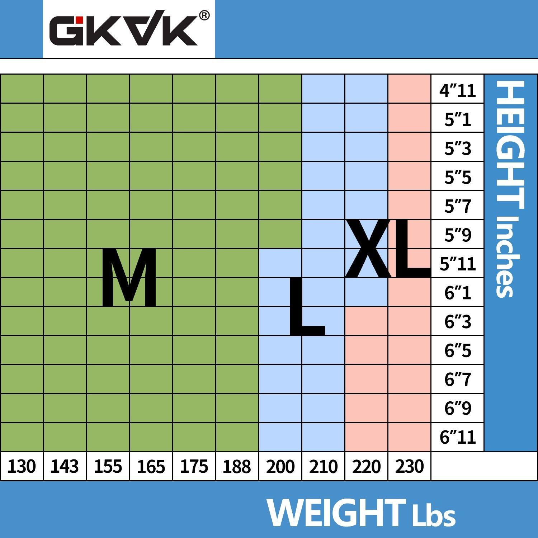 GKVK Mens Slimming Body Shaper Vest Shirt Abs Abdomen Slim,L(chest size 96cm-101cm/38inches-40inches),Black