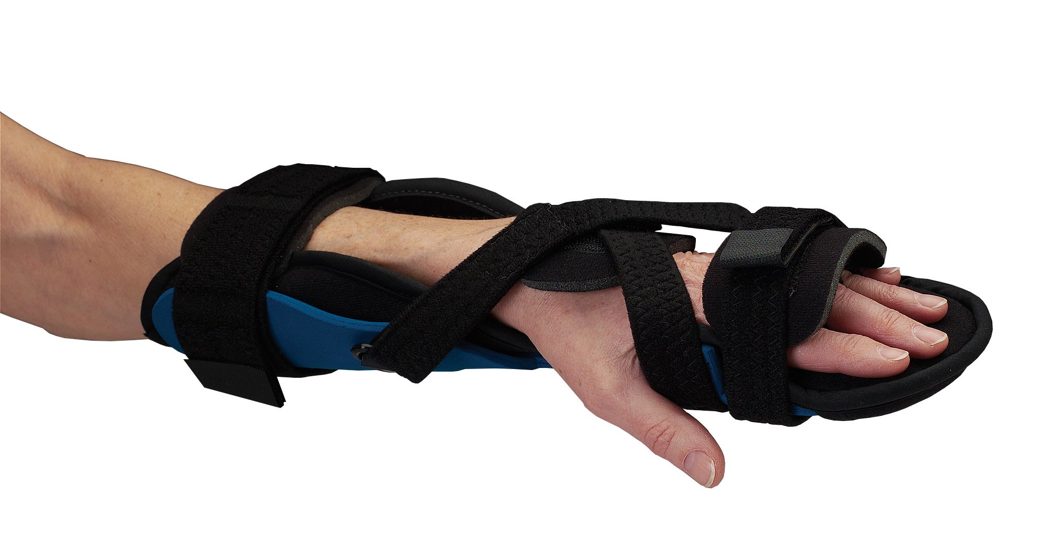 Rolyan Advanced Orthosis, Mitt Brace & Wrist Strap for Customized Positioning, Large, Hand & Wrist Support Splint Allows For Extension/Flexion, Radial/Ulnar & Supination/Pronation Adjustments by Rolyan