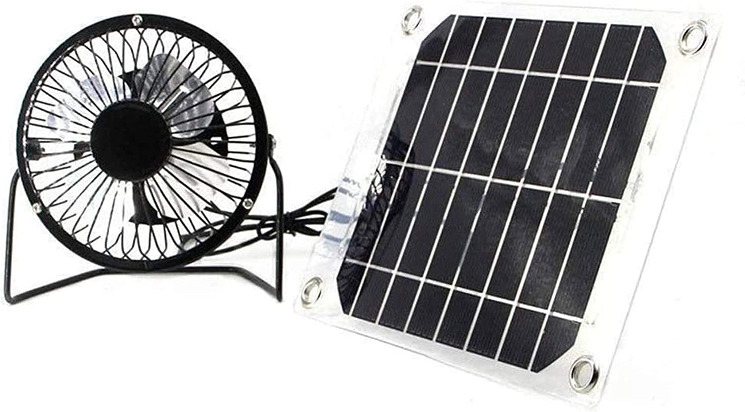 Solar Fan 6W 4 inch Free Energy for Greenhouse Motorhome House Chicken House Outdoor Home Cooling Chicken coop USB fan