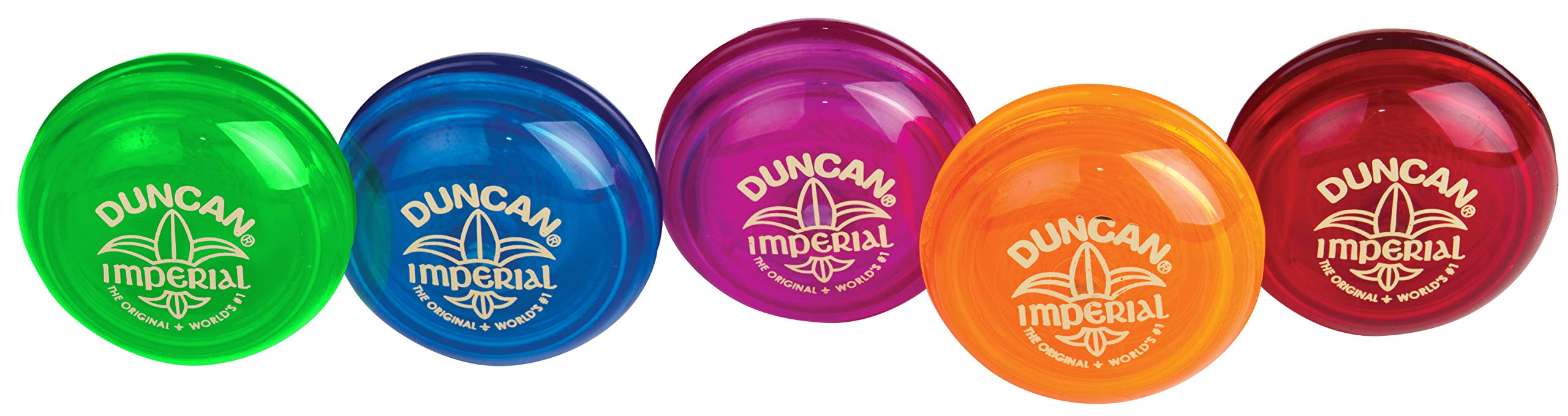 Duncan Toys Imperial Yo-Yo, Beginner Yo-Yo with String, Steel Axle and Plastic Body, Colors May Vary