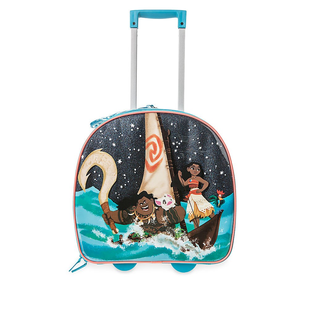 Disney Moana Light-Up Rolling Luggage Blue