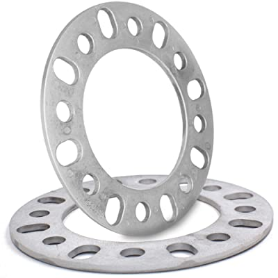 "6mm (1/4"") Thick Wheel Spacer Fit 8x165.10mm (8x6.50), 8x170mm, 8x180mm Set of 2: Automotive"