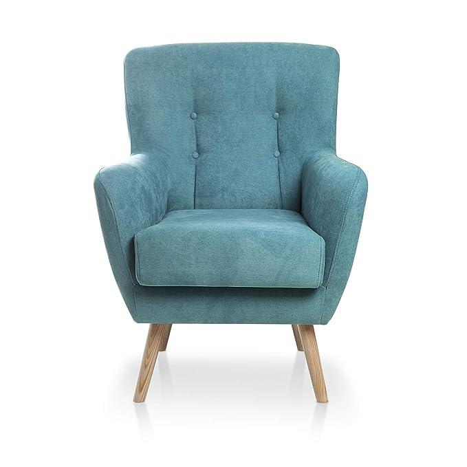 SERMAHOME Sillon Relax, Sillón reclinable, Carol. Butaca Gris Marengo, Sillones de salón tapizado.