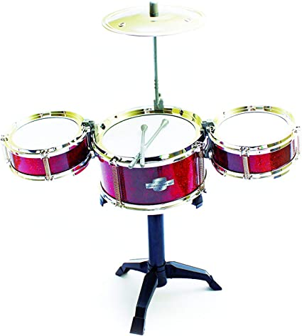 Fun Central AT996 Drum Set for Kids Musical Instrument for Kids Red