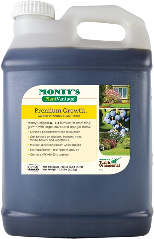 Monty's Plant Food Company 32 oz Plant Vantage Premium Growth Fertilizer-(503320)