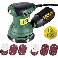 Ponceuse Excentrique, TECCPO, 280W, 12,500 RPM pour polir le bois et le métal, TARS23P