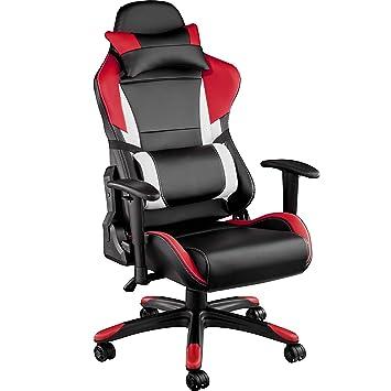 TecTake Silla de Oficina ergonomica Racing Gaming con Soporte Lumbar ...