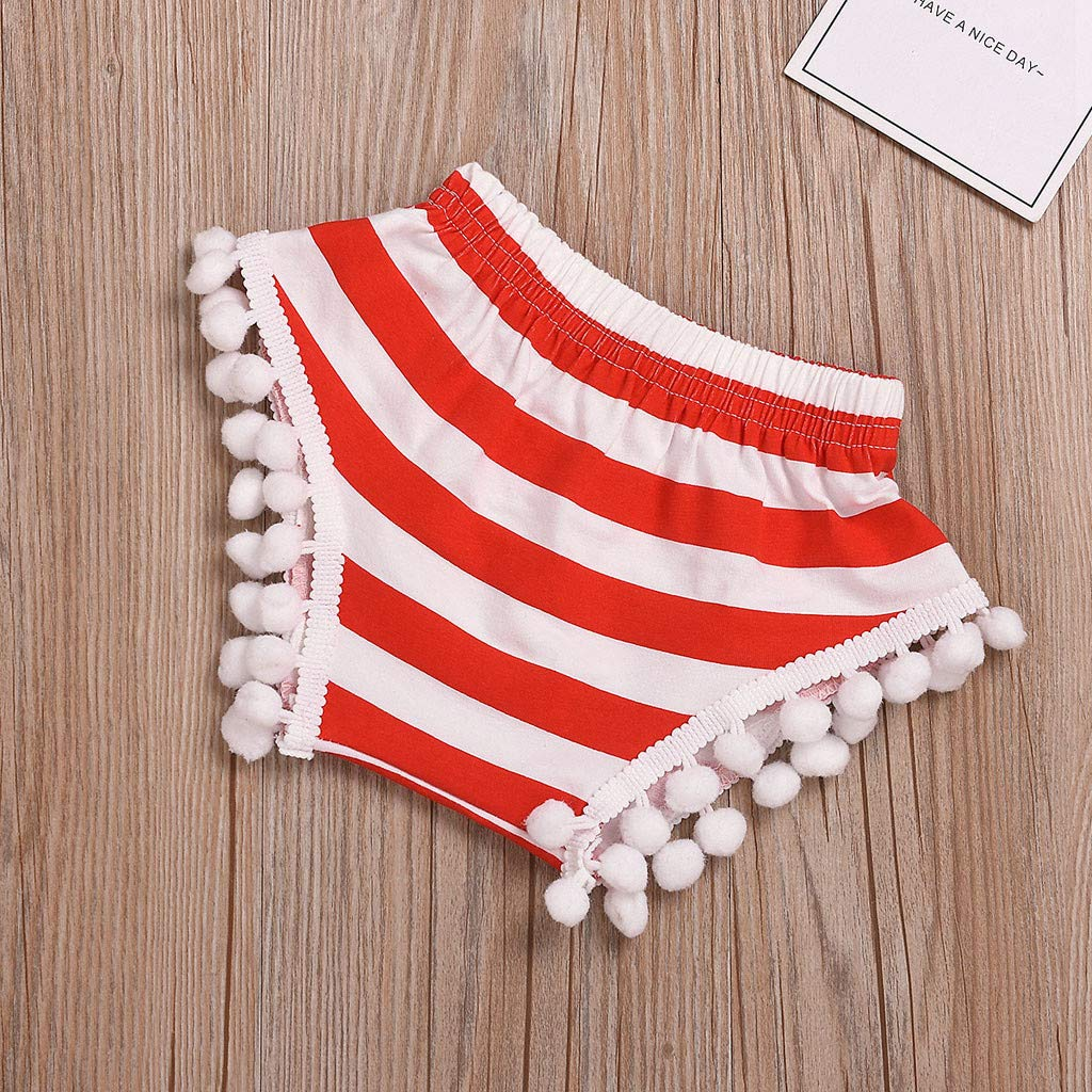 Whitegeese Toddler Kids Baby Girl 4Th of July Stars Vest Tops Stripe Shorts Outfit Set