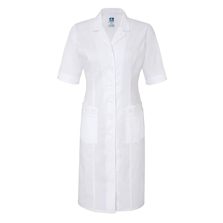 Adar Pop-Stretch Junior Fit Short Sleeve Back-Smocked Dress