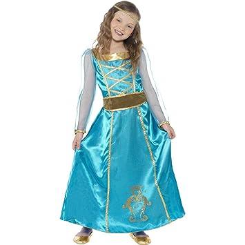 MAID DISFRAZ Burgfräulein campesino vestido de princesa de pelo ...
