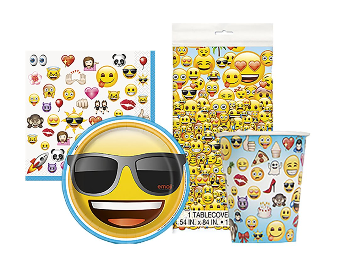 Emoji Birthday Complete Party Tableware Pack For 16 By Unique Supplies Amazonin Toys Games