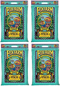 Foxfarm FX14053 Ocean Forest Organic Plant Garden Potting Soil Mix 12 Quarts, 11.9 Lbs (4 Pack)