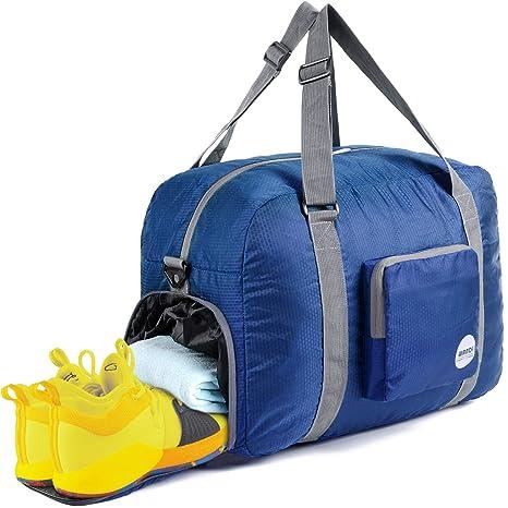 2bfcb6d19e Wandf Lighter Pieghevole da viaggio Bagaglio Carry Duffel Bags Sacchetti di  notte/Borsa da palestra
