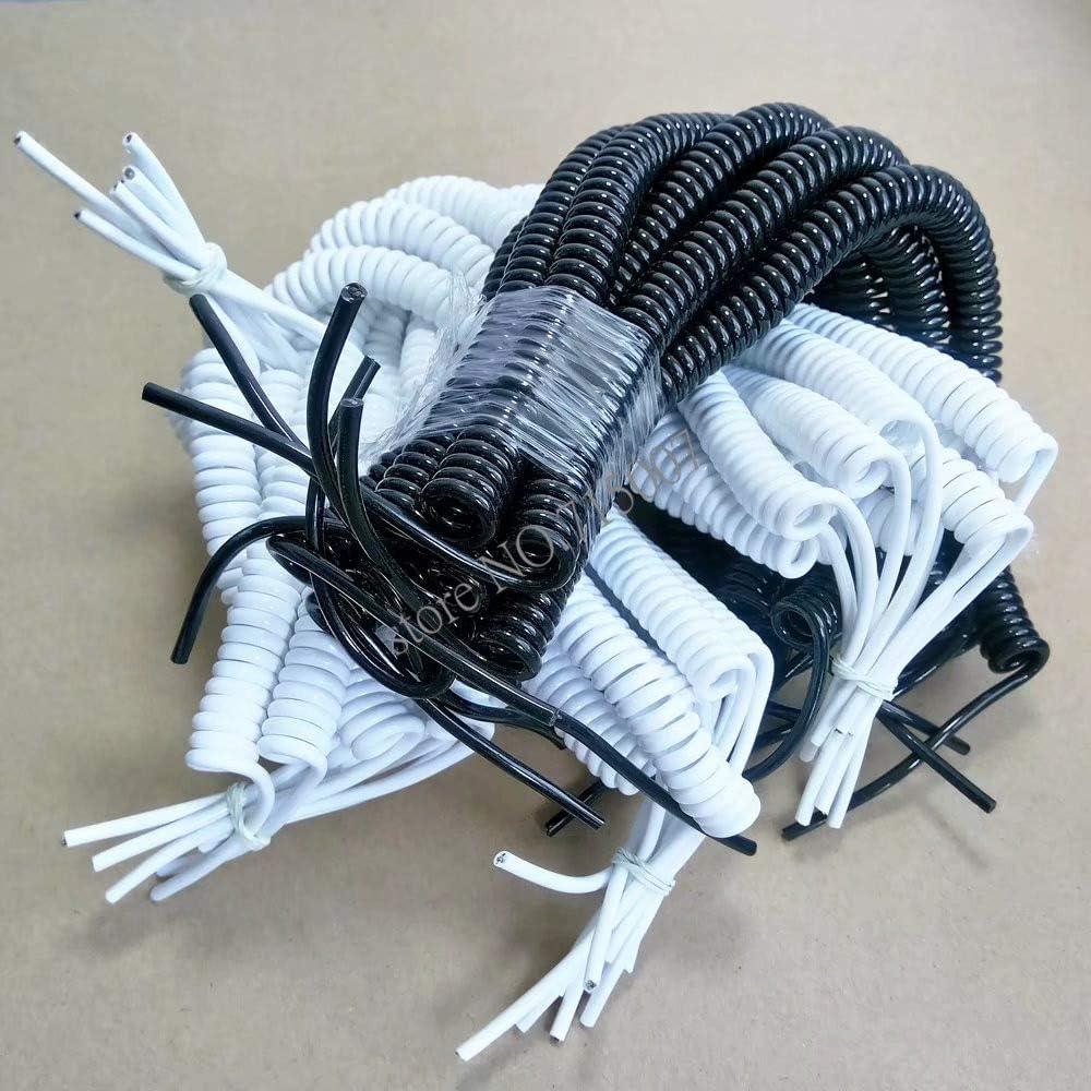 Cables 1pcs DIY Spring curl line USB line USB 4 core Wire microusb Extension Data Cable Cable Length: Four core White 1m, Color: White