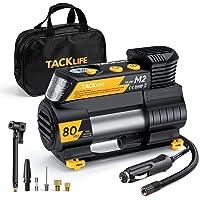 $39 » TACKLIFE M2 Tire Inflator for Car, 12V DC Portable Air Compressor with Digital Pressure Gauge,…