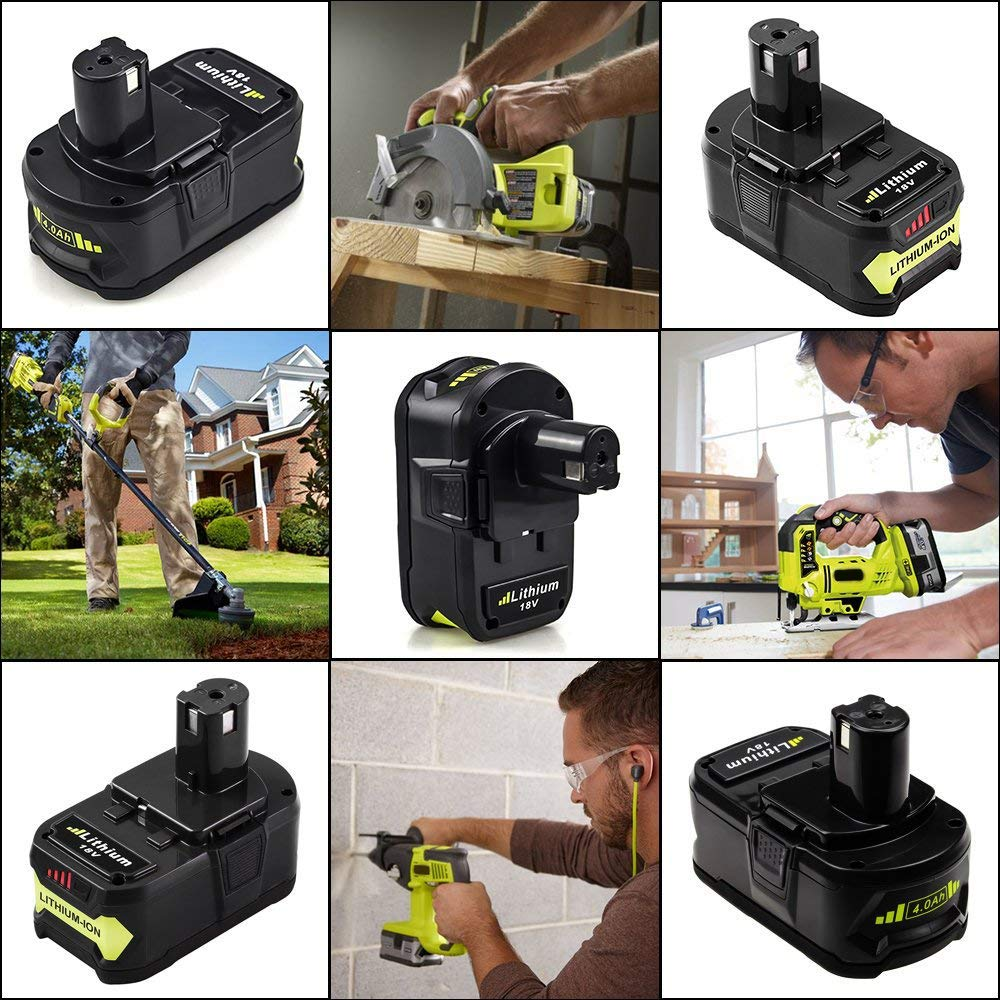 2 Pack P108 4.0Ah Replace for Ryobi 18V Battery ONE+ P102 P103 P104 P105 P107 P109 P122 Cordless Power Tools by Boetpcr (Image #7)