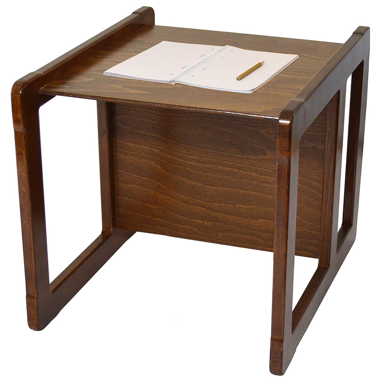3 in 1 Childrens Multifunctional Furniture Set of 2, One Small Chair or Table and One Large Chair or Table Beech Wood, Dark Stained by Obique Ltd (Image #8)