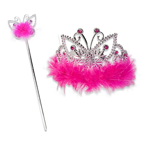3e429747f Lucy Locket - Kit de tiara y varita mágica en color fucsia (3-8 años ...