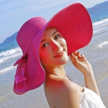 OULII Playa de Verano de Mujeres Sol Cap Chicas Sol Sombrero ...