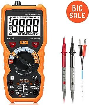 Multimeter Digital Messgeräte Automatische Messbereichserkennung 6000 Counts Voltmeter Amperemeter Ohmmeter Für Ac Dc Spannung Strom Widerstand Temperatur Messung Spielzeug