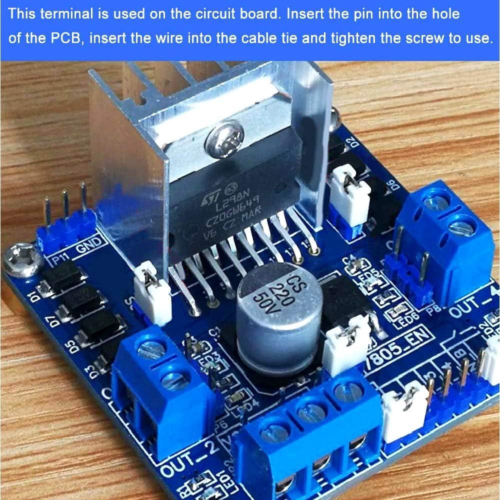 PCB Terminal Block 5mm Pitch 2 Pin//3 Pin//4 Pin Screw Terminal Block Connector 300V 16A Blue 100PCS 2 Pin-85PCS, 3 Pin-10PCS, 4 Pin-5PCS