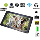 """G-Anica Tablette tactile 9"""" - Android 4.4.2, Dual Core, (1024 x 600HD, Double caméra, Bluetooth, Wi-Fi, 8 Go, 512Mo RAM, jeux 3D pris en charge)-Noir"""