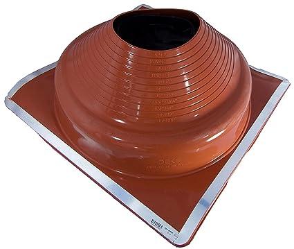 Dektite Premium 9 Red Silicone Metal Roof Pipe Flashing High Temp Square Base Pipe Od 9 To 20