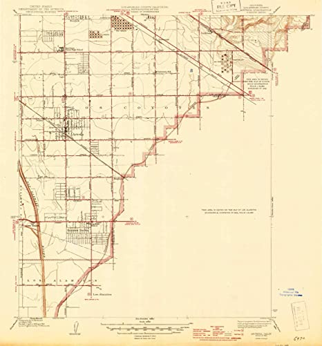 Artesia California Map.Amazon Com Yellowmaps Artesia Ca Topo Map 1 24000 Scale 7 5 X
