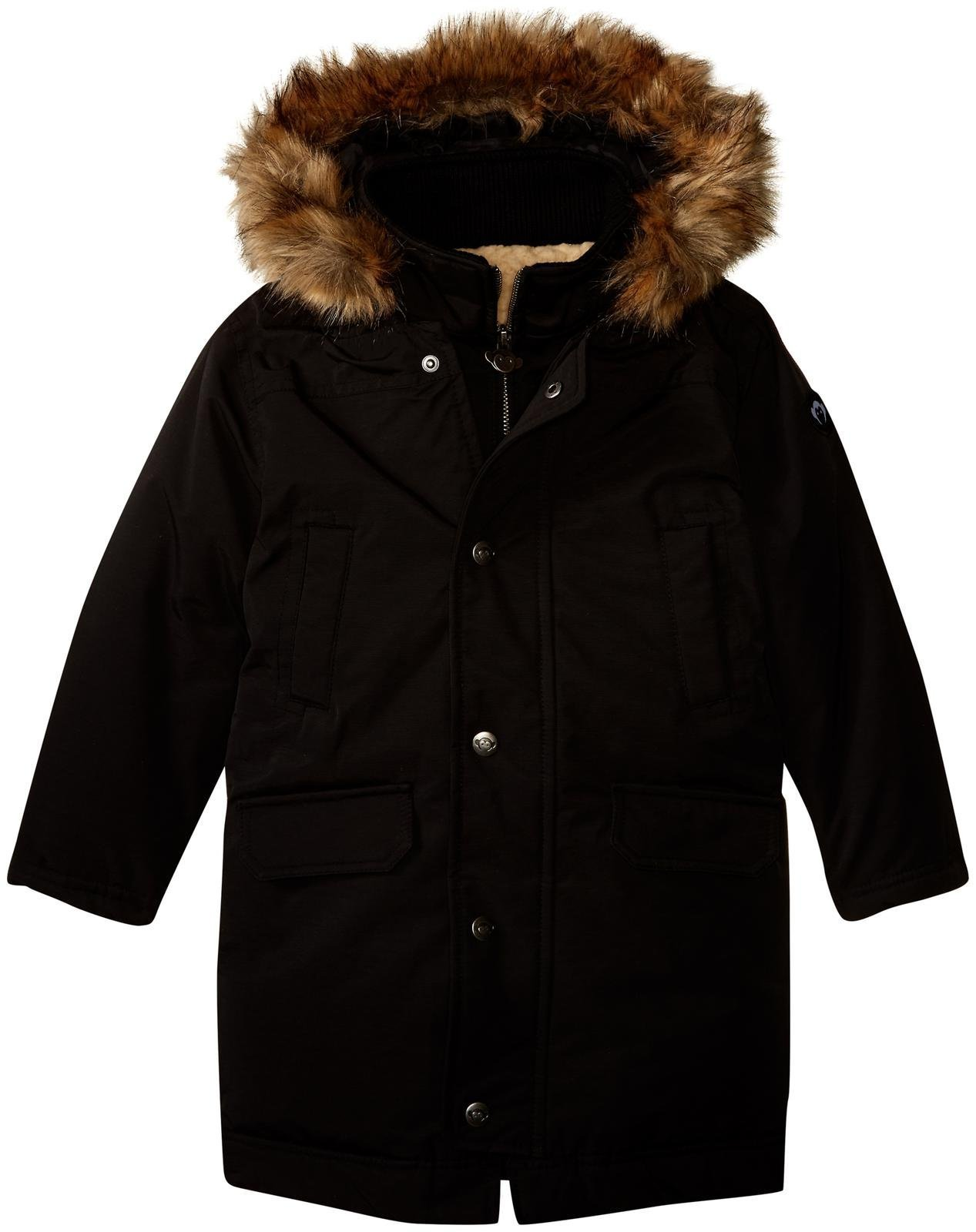 Appaman Boys' Pratt Down Parka, Black, 6