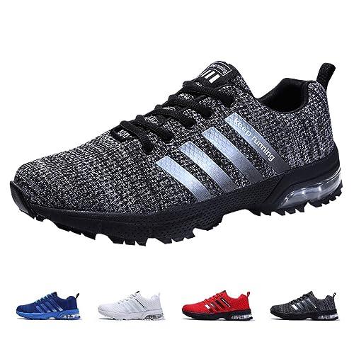 ZIITOP Zapatillas Hombres Deporte Running Zapatos para Correr Air Cushion Gimnasio Sneakers Deportivas Padel Transpirables Casual