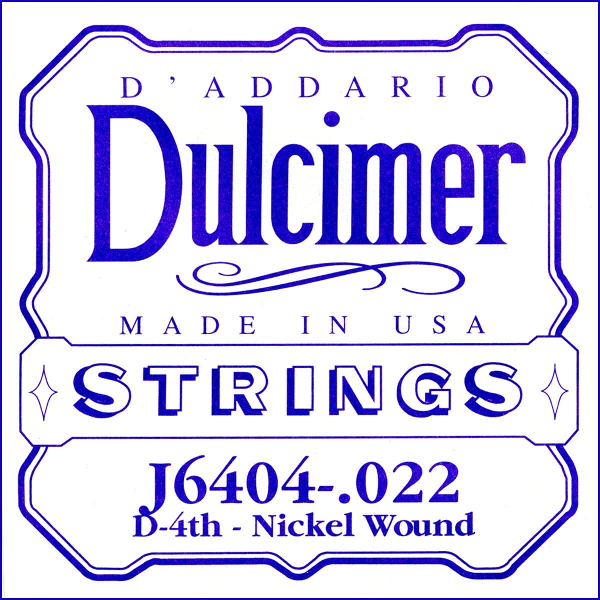 D`ADDARIO J6404 니켈 상처 덜 시머 단일 문자열 .022