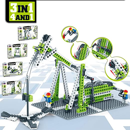 ILYO Bloques de construcción de niños Conjunto máquina de ...
