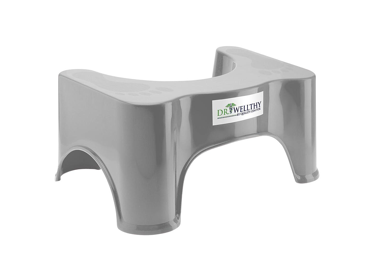 Dr. Wellthy - Lo sgabello servizi igienici! - Antiscivolo Anti costipazione Heal Squat emorroidi (2 x Sgabello fisiologico per toilette) Quality Contor
