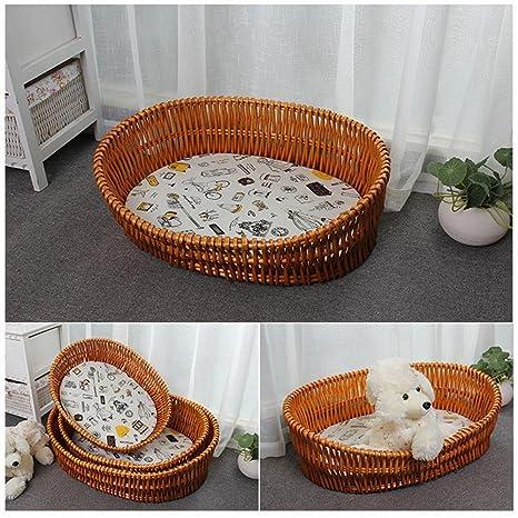 Weiwei Cama de Perro Lavable Rota Kennel Perro casa Gato tamaño de Nido de la Jaula